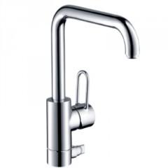 Axor Uno 1-gats keukenkraan 1-greeps met stopkraan voor vaatwasser chroom 14855000