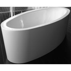 Bette Home Oval S bad plaatstaal dikwandig ovaal 180x100x45cm z. poten wit 8994000CFXXK