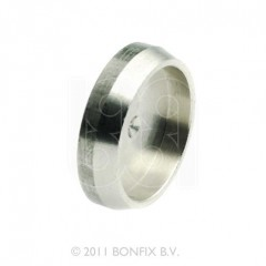 Bonfix afsluitplaat 22mm knel vernikkeld 82812AN