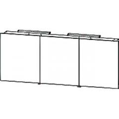 Bruynzeel Pinto spiegelkast 150x62x16 aluminium 221498