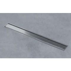 Easy Drain Aqua Jewels XS zero geborsteld 40cm met zijuitlaat 50mm waterslot 50mm RVS AJXS-40-ZM