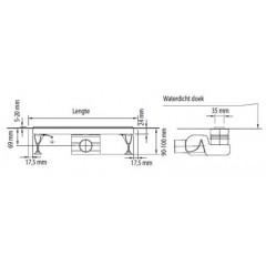 Easy Drain XS-line inbouwdeel 90cm XSROH900