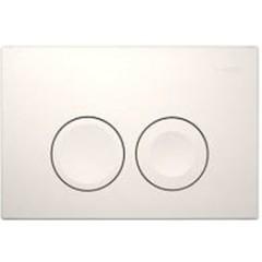 Geberit Delta 21 bedieningsplaat dual flush t.b.voor reservoir UP100 wit 115125111