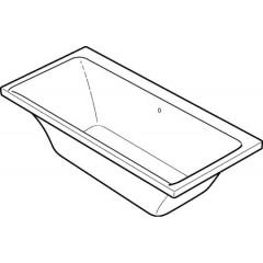 Keramag myDay kunststof bad acryl rechthoekig 170x75x45cm z. poten wit 650570000
