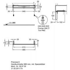 Keramag Preciosa II handdoekhouder 88.5x10x20cm chroom 500730000