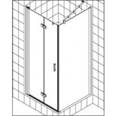 Kermi Diga pendeldeur voor zijwand 110x200cm links met KermiClean glanszilver/helder DI2SL11020VPK
