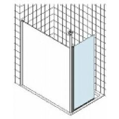Kermi Walk-In Angle douchewand met combiprofiel montage onder hoek 90°-270° 40x200cm matzilver/helder XXWIA040201AK