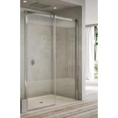 Saelskin 4200-2 120 2-delige schuifdeur vast deel rechts chroom helder glas 171112063317Z1