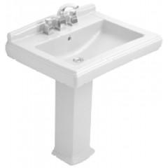 Villeroy & Boch Hommage wastafel 75x57cm voor 3-gats kraan ceramic+ wit 7101A1R1