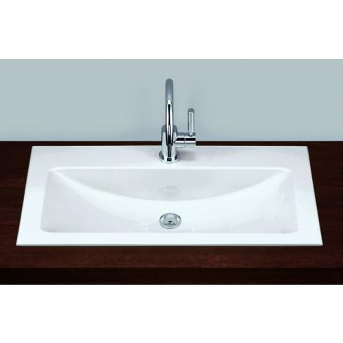 Alape vlakke inbouw waskom 800x500mm wit - Wastafel rechthoekig badkamer ...