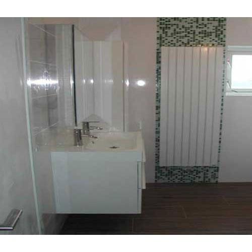 Badkamer Veenendaal met mozaïek en nisje in de douche