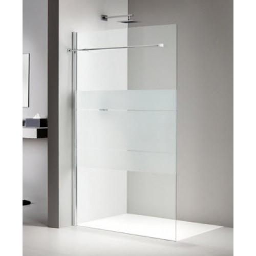 Sealskin duka 2100 inloopdouche a3 90cm mat zilver helder glas 3a08090d010100 douche - Betegelde douche ...