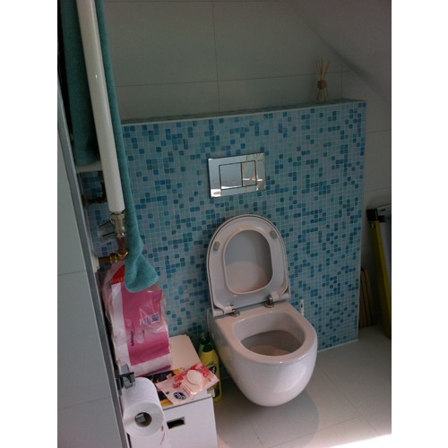 Blauw mozaiek badkamer home design idee n en meubilair inspiraties - Wc mozaiek ...