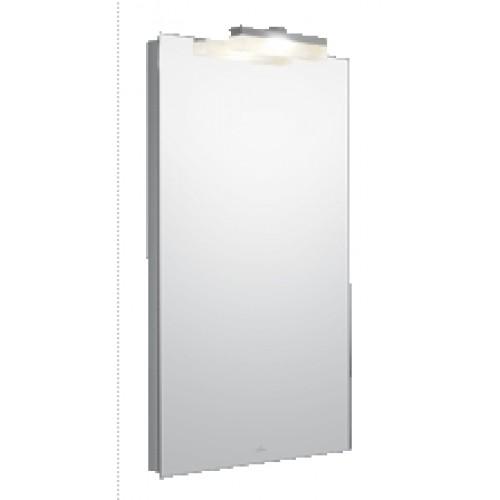 villeroy boch more to see spiegel met 1 lamp c rechthoekig 90x75cm voor wandbediening met. Black Bedroom Furniture Sets. Home Design Ideas