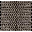 Atlas Concorde Dwell Wall Design greige hexagon mozaiek 2,8x2,8 28,5x30 6DHG