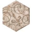 Isla Queen Stone luxor esagona inserto decortegel 24x27,7 1003363