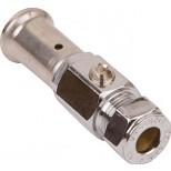 Henco persfitting inbouwafsluiter 16xDN BAP-SV1610S