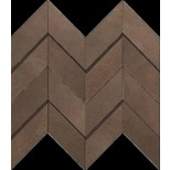 Atlas Concorde Dwell Floor Design brown leather chevron 3D decortegel 30,8x35,1 A1DO