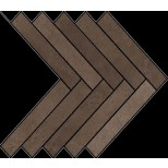 Atlas Concorde Dwell Floor Design brown leather visgraat decortegel 36,2x41,2 A1DE