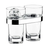 Emco Polo dubbele glashouder met acryl glazen chroom 072500101