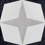 Fioranese Cementine Black&White 1 vloertegel 20x20 CBW20C1