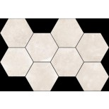 Flaviker Backstage bisque hexagon decortegel 36,8x55,2 BKES13R