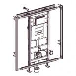 Geberit Gis-easy WC-element H 120 met reservoir UP320 120x90-125cm met frontbediening 442021005