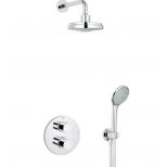 Grohe Grohtherm-3000 Cosmopolitan Set compleet met hand- en hoofddouche met inbouwdouchekraan thermostatisch chroom 34399000