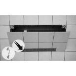 Upmann inspectieluik tbv whirlpool max. 0.5m² rooster chroom 80x300mm 80631