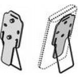 Uponor tafelstandaard / wandhouder T-75 zilver 1000505