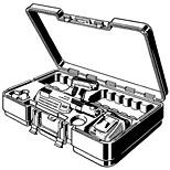 Viega accu-persmachine zonder persbekken 18V 1.1Ah in koffer 622404