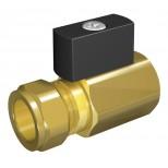Vsh Ballofix gaskogelkraan 1/2 bi.x15mm knel giveg chroom 6002095
