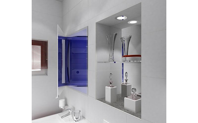 Badkamer Spiegel Kast : Badkamer met ingebouwde spiegelkast
