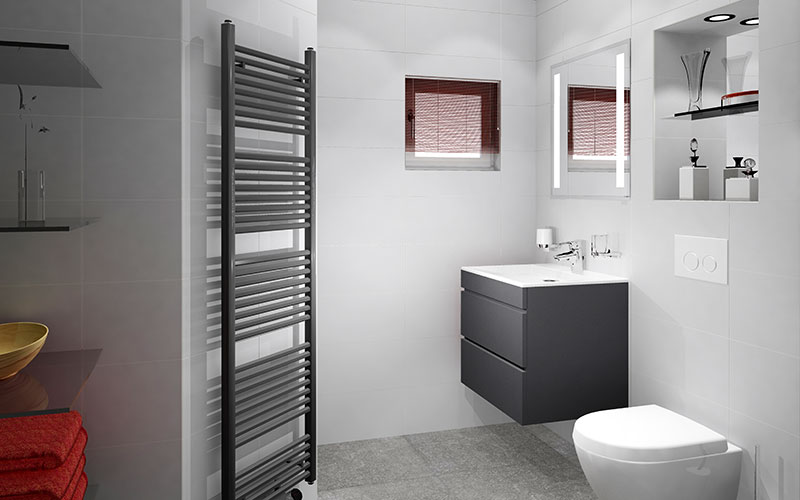Inloopdouche Met Hoek : Badkamer met ingebouwde spiegelkast