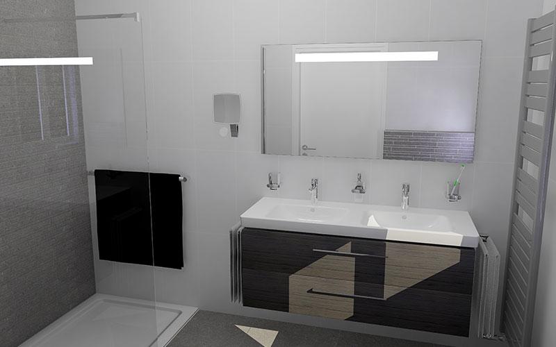 badkamer rotterdam een tijdloze badkamer in wit en grijs, Badkamer