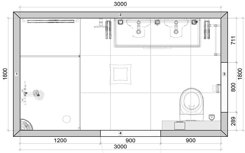 Plattegrond Keuken Ontwerpen : Badkamer Rotterdam een tijdloze badkamer in wit en grijs