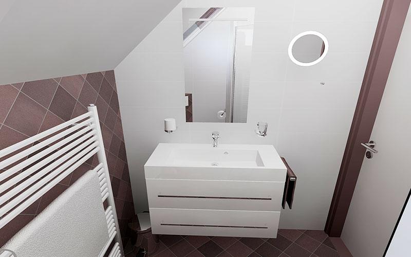 Badkamer Zonder Toilet : Badkamer met schuin dak