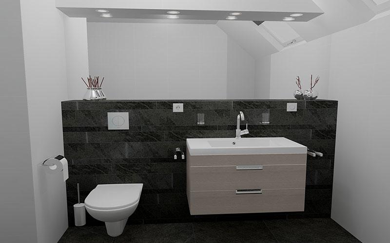 Betonstuc In Badkamer ~ Badkamer Met Nis Trendy badkamer met nis en inbouwkranen Nl toilet