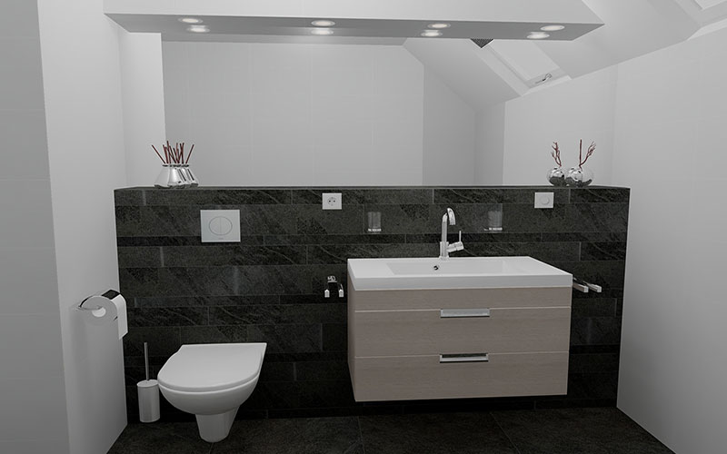 ideeen grote badkamer