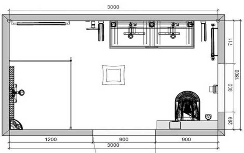 Polyester Wanden Badkamer ~ Badkamer 15 plattegrond