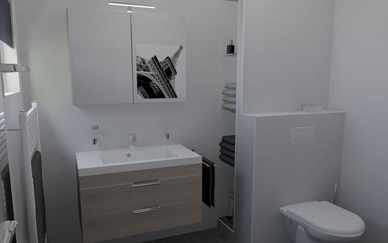Badkamer Halsteren, een hele kleine badkamer