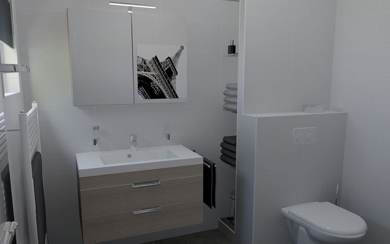 Badkamer klein bad wit en schone badkamer met beige tegels trim klein raam bad de badkamer - Kamer klein bad ...