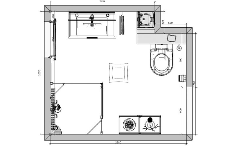 Awesome Badkamer Plattegrond Gallery - New Home Design 2018 ...