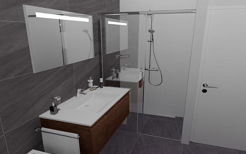 Badkamer etten leur vloertegels op wand for App badkamer ontwerpen