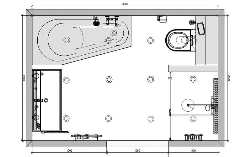 Badkamer Fijnaart, ruimte besparing met asymetrisch bad