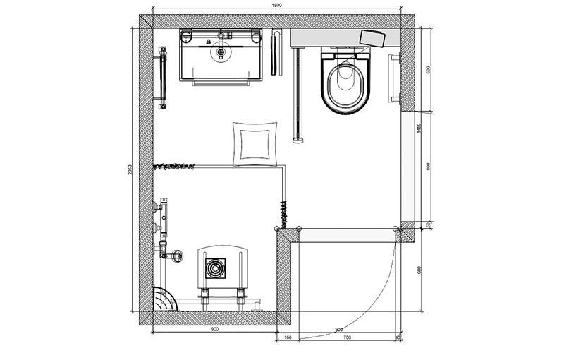 Badkamer Hoeven, badkamer met aangepaste doucheruimte