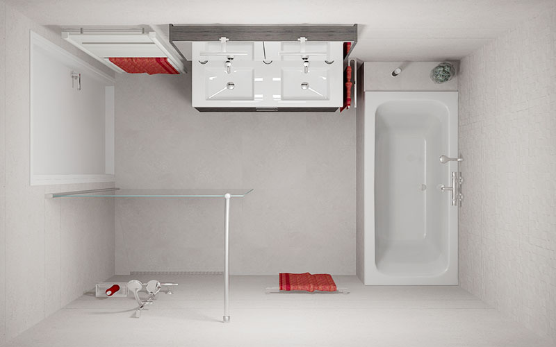 Badkamer hoogerheide - Porcelanosa tegel badkamer ...