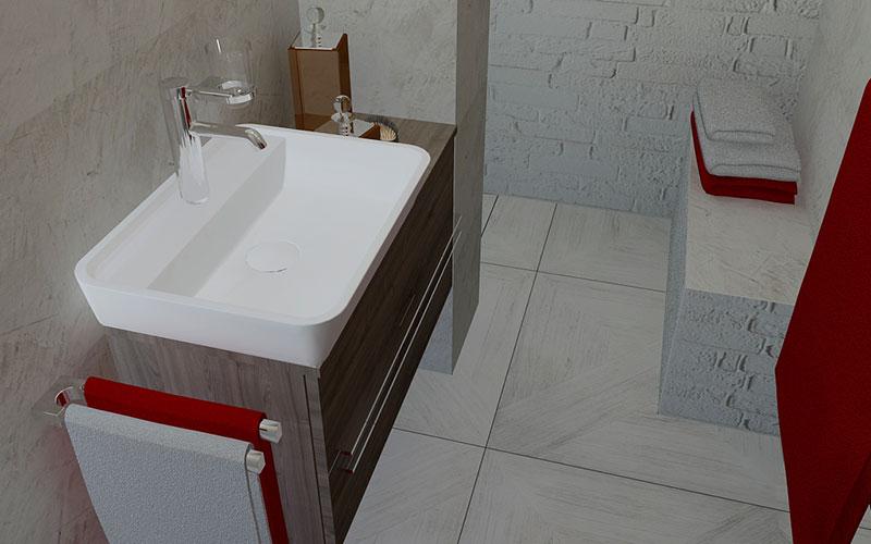 Inloopdouche Met Opzetwastafel : Badkamer klundert betegelde inloopdouche