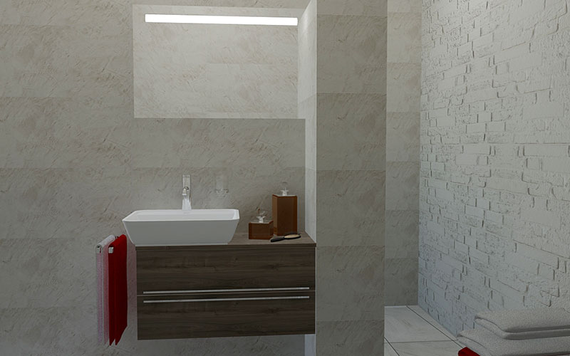 Badkamer klundert betegelde inloopdouche - Badkamer modellen met italiaanse douche ...