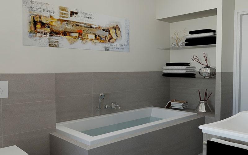 20170329 172252 badkamer betegelen bad - Badkamer m met bad ...